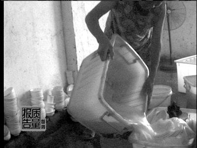 媒体曝光部分餐具消毒厂卫生极差脏水重复使用